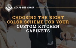Choosing The Right Color Scheme For Your Custom Kitchen Cabinets